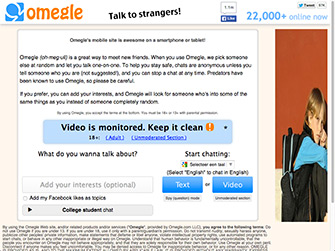 Omegle is a site like Camzap, Chatrandom, Camzap and a Chatroulette alternative.