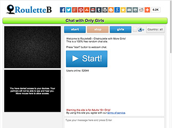 RouletteB is a site like Omegle, Camzap, Chatrandom and a Chatroulette alternative.